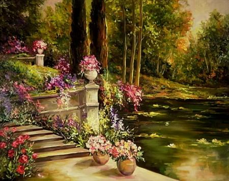 Romanta lacului cu flori / Bulgaru Anca