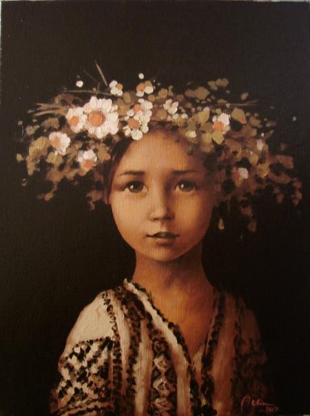 Copila cu coronita de flori de camp / Deliu Doru Cristian