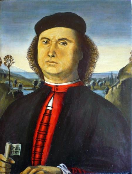 Reproducere: Pietro Perugino : Portretul lui Francesco delle Opere - 1494 / Alexandru  Gheorghe