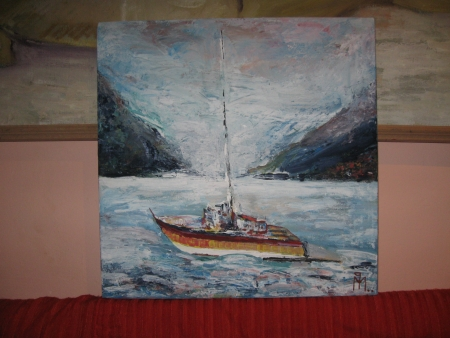 Barcă pe Dunăre / PLĂVEȚI MIHAI