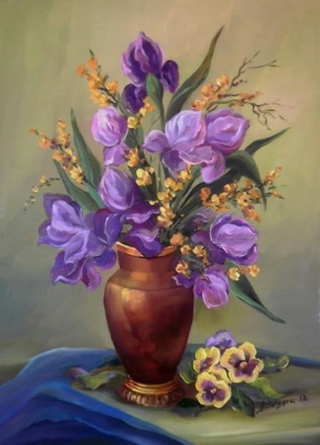 Irisi in catifea albastra / Bulgaru Anca