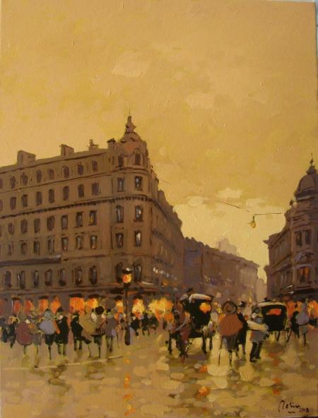 Prin vechiul Bucuresti, Calea victoriei,intre Hotelul Louvre si Casa Capsa / Deliu Doru Cristian