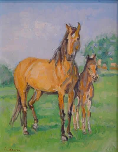 Peisaj cu cai / Candea Daradici Iulia