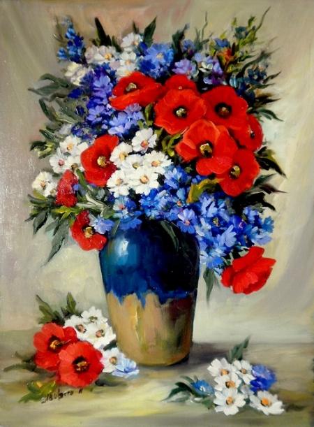 Buchet cu flori de cimp / Bulgaru Anca