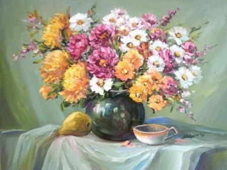 Natura statica cu flori de gradina / Bulgaru Anca