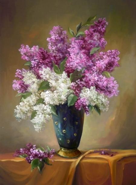 Glastra cu flori de liliac / Bulgaru Anca