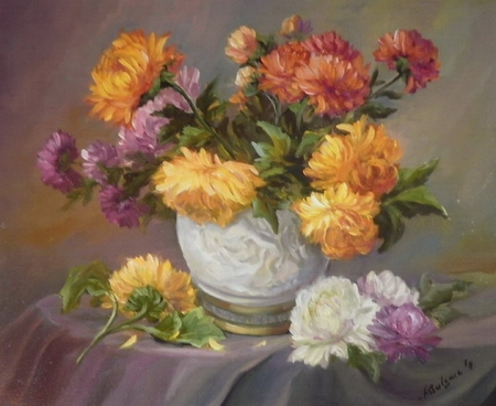 Crizanteme colorate cu toamna / Bulgaru Anca