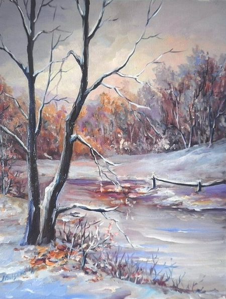 Iarna in doi  / Bulgaru Anca