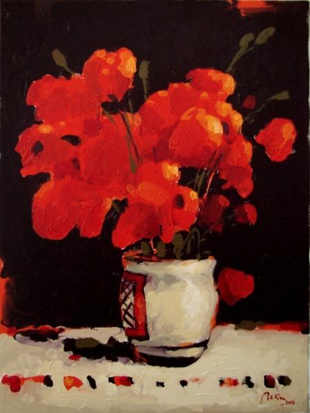 natura statica cu flori de mac / Deliu Doru Cristian