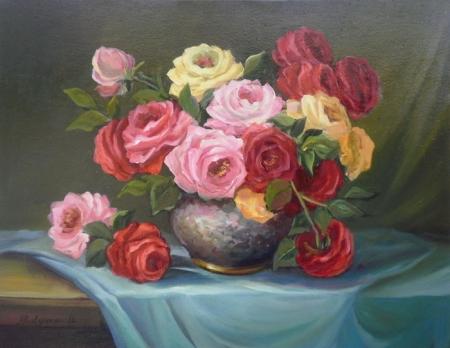 Trandafiri in buchet / Bulgaru Anca
