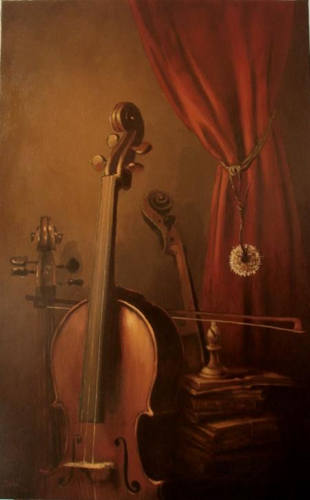 Natura statica cu violoncel / Deliu Doru Cristian