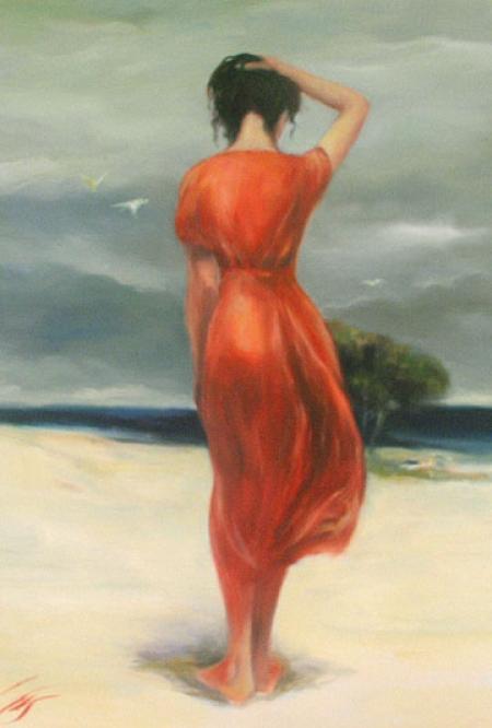 femeie si plaja / Coman Stefan