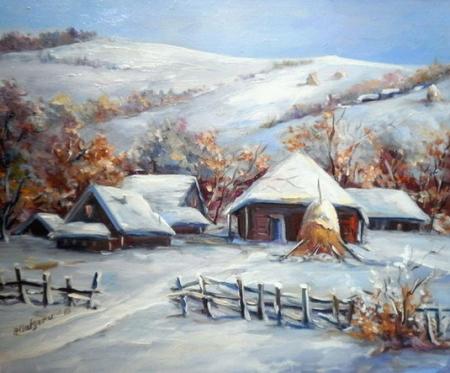 Ograda cu iarna / Bulgaru Anca