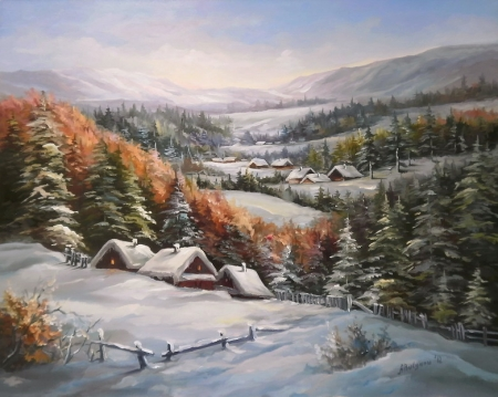 Sat de munte troienit / Bulgaru Anca