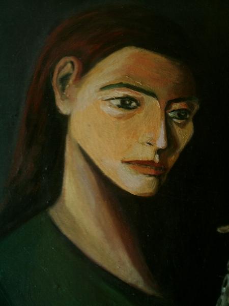 Femeie cu flaut (detaliu ) / PLĂVEȚI MIHAI