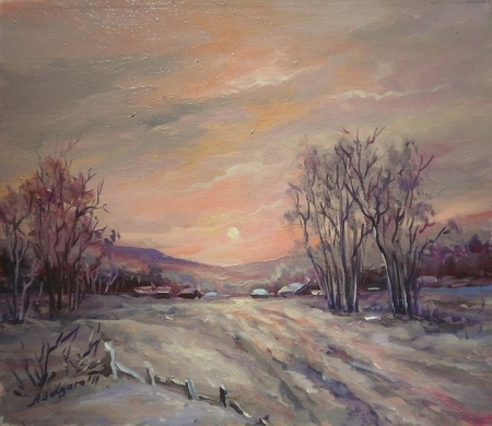 Iarna in zori  / Bulgaru Anca
