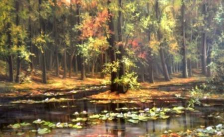 Nuferi si frunze pe lac / Bulgaru Anca