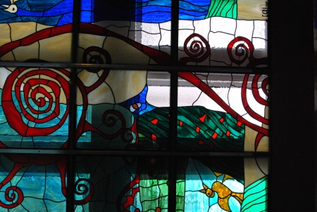 stained glass window Hotel Best Western Balvanyos / Egri Istvan
