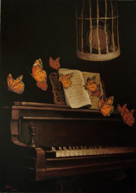 Compozitie cu fluturi / Deliu Doru Cristian