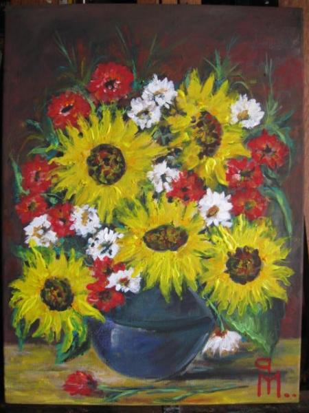 floarea soarelui cu flori de camp / PLĂVEȚI MIHAI