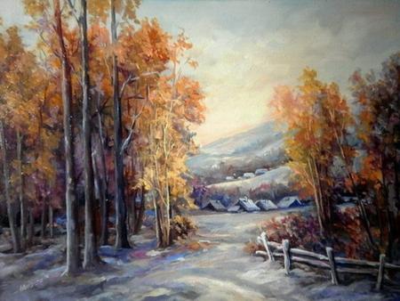 Iarna ninsa in culori / Bulgaru Anca