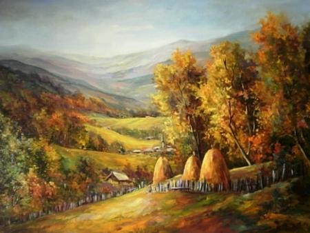 Pe dealuri cu toamna / Bulgaru Anca