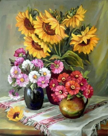 Flori de toamna aurie / Bulgaru Anca