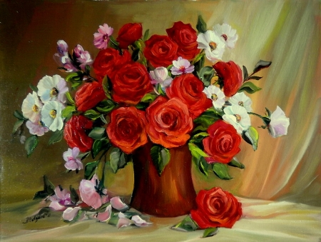 Buchet cu trandafiri  / Bulgaru Anca