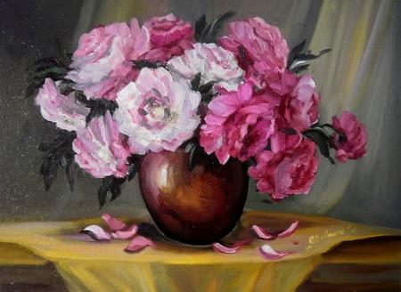 Vas cu bujori roz / Bulgaru Anca