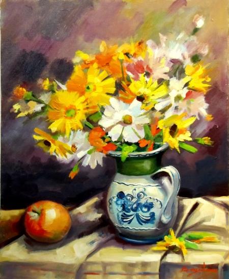 Vas cu flori si mar / Bogatean Calin