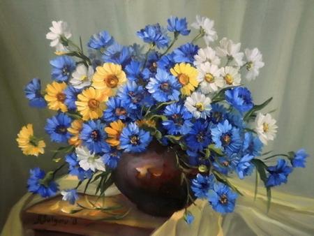 Buchet cu albastrele / Bulgaru Anca