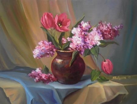 Martisor cu flori surori / Bulgaru Anca