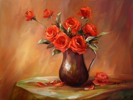 Trandafiri rosii / Bulgaru Anca