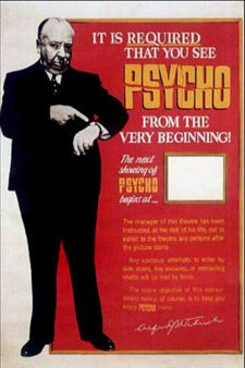 psycho poster hitchcock