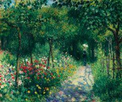 Femme dans un jardin Renoir