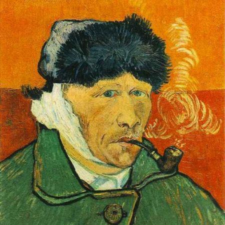 autoportret cu pipa van gogh