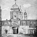 Biserica si Hanul Zlatari la 1881