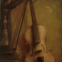 natura statica cu vioara