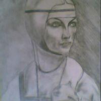 FEMEIA CU HERMINA (PORTRETUL CECILIEI GALLERANI)