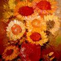 Flori de soare apune