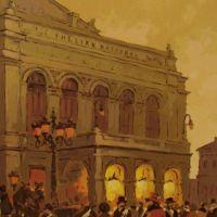 Vechiul Teatru National ,Bucurestiul de altadata