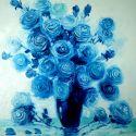 Trandafiri bleu marin