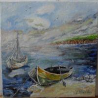 Marina 2-pictura ulei pe panza;MacedonLuiza