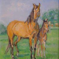 Peisaj cu cai