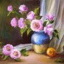 Natura statica cu roze