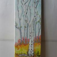 Peisaj 2-pictura ulei pe panza;MacedonLuiza