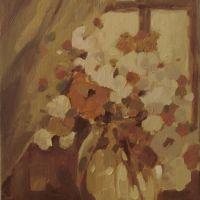 Flori de vara in geam