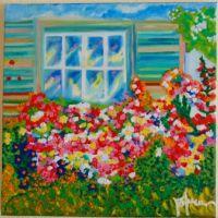 Flori la fereastra