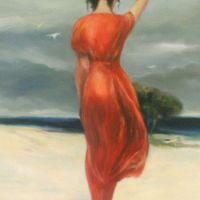 femeie si plaja