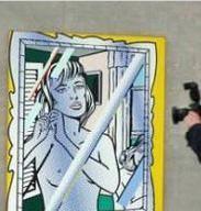 Un tablou de Lichtenstein a fost partial distrus
